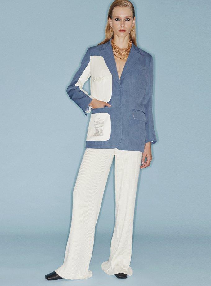 Вязанные брюки из шерсти SAYYA_FW1084-1, фото 1 - в интернет магазине KAPSULA