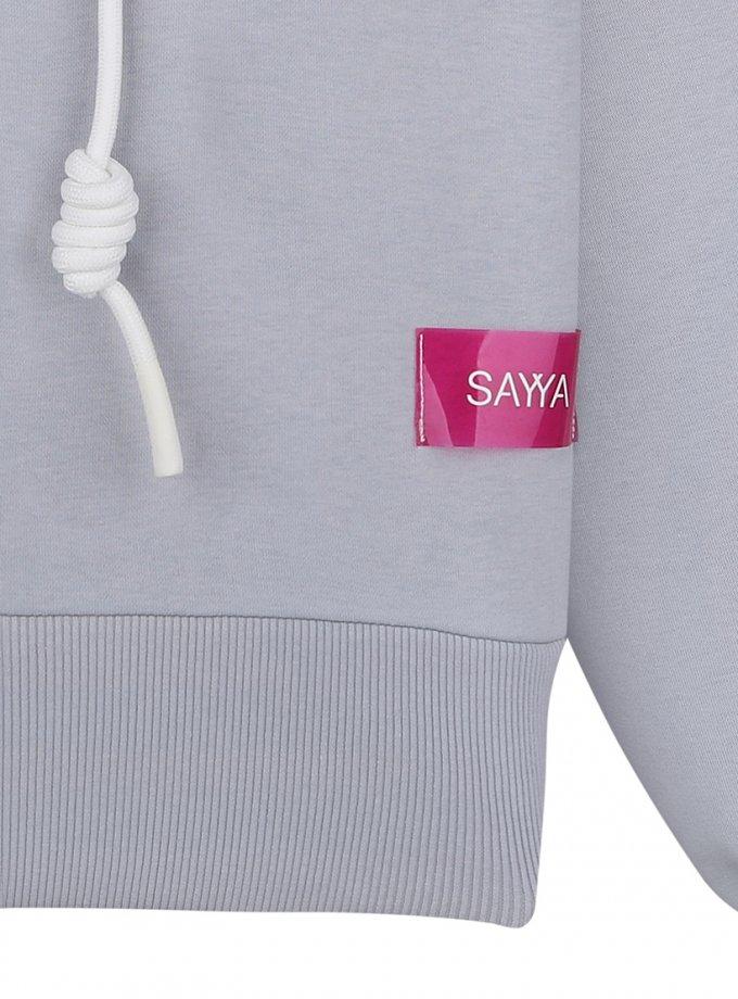 Укороченный худи SELF CARE из хлопка SAYYA_FW1088, фото 1 - в интеренет магазине KAPSULA