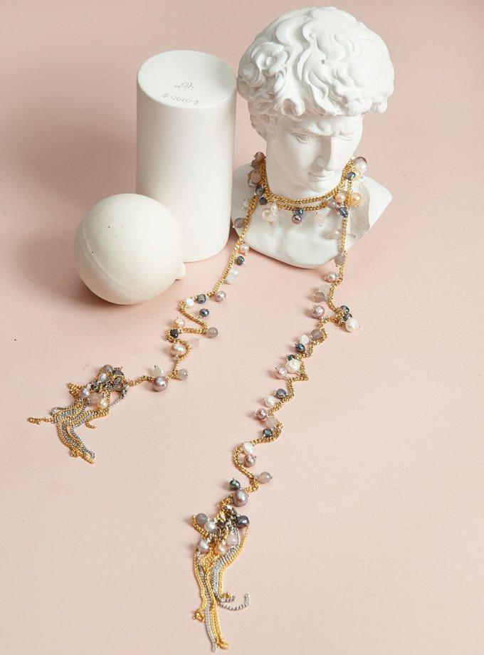 Колье ANGEL GOLD с жемчугом SMKSH_ANGEL _GOLD, фото 1 - в интеренет магазине KAPSULA