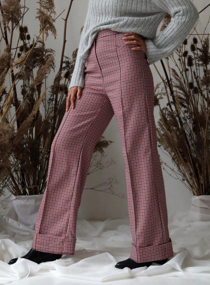 Прямые брюки в клетку IP_TU10047, фото 1 - в интеренет магазине KAPSULA