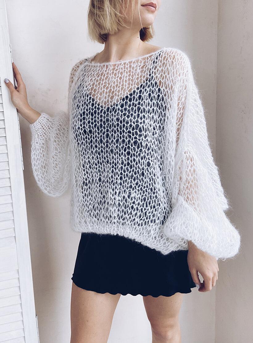 Объемный свитер из мохера WN_AIM02, фото 1 - в интернет магазине KAPSULA