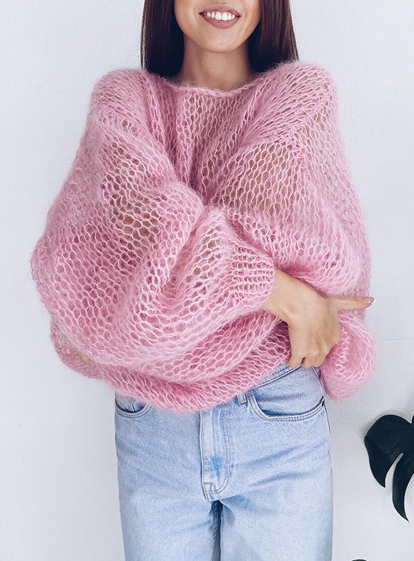 Объемный свитер из мохера WN_AIM03, фото 1 - в интеренет магазине KAPSULA