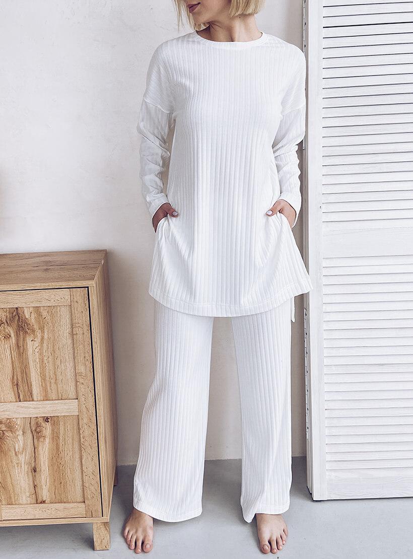 Трикотажный костюм в рубчик WN_AIM06, фото 1 - в интернет магазине KAPSULA