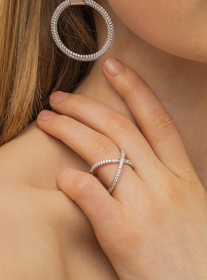 Кольцо MOTION из серебра с фианитами AA_3K089-0022, фото 1 - в интеренет магазине KAPSULA