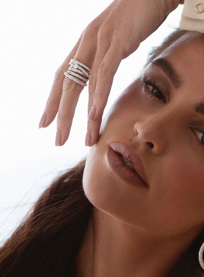 Серебряное кольцо PARAMETRIC  с фианитами AA_3K089-0011, фото 1 - в интеренет магазине KAPSULA