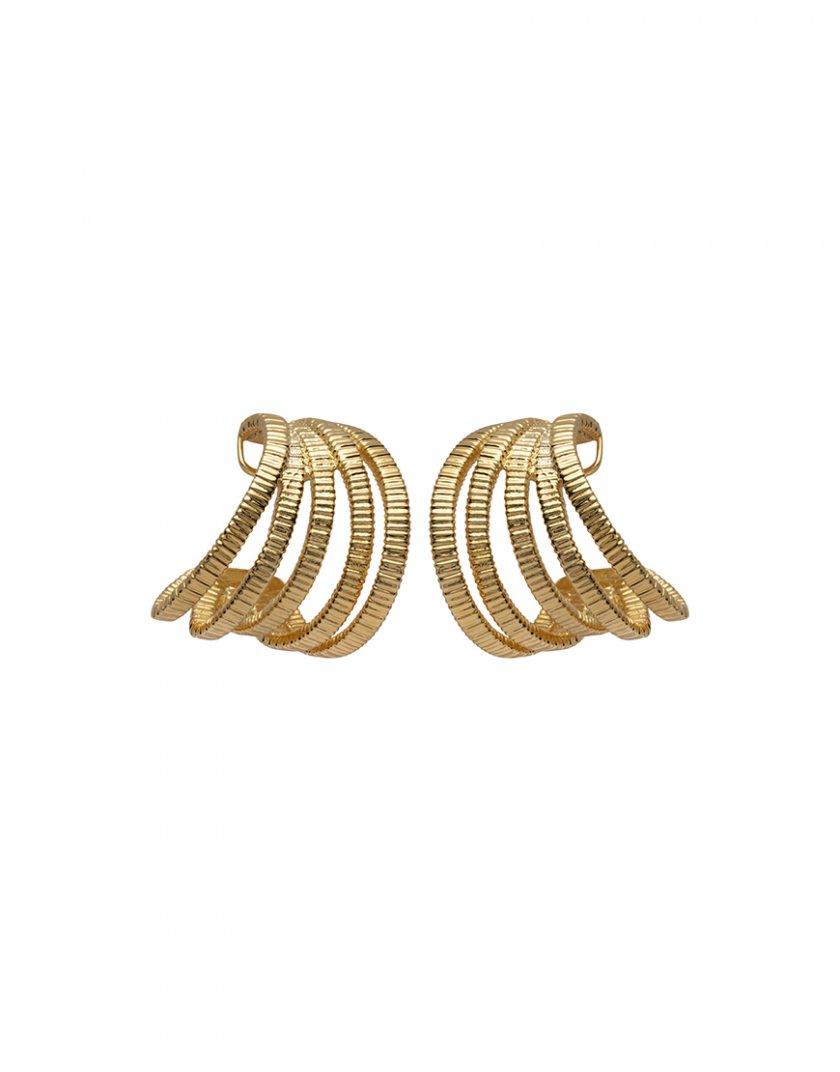 Серебряные серьги PARAMETRIC yellow AA_3C089-0009, фото 1 - в интернет магазине KAPSULA