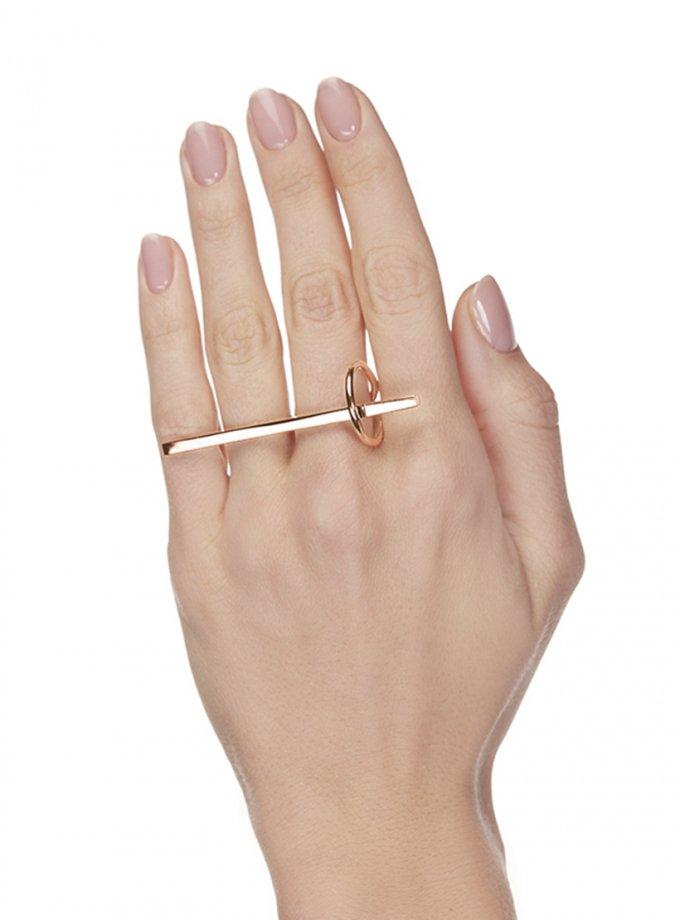 Кольцо SATURN rose из серебра AA_3K155-0071R, фото 1 - в интеренет магазине KAPSULA