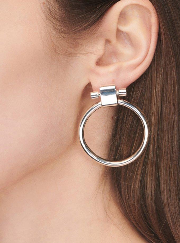 Серебряные серьги SIMPLY HOOP AA_3C089-0020, фото 1 - в интеренет магазине KAPSULA