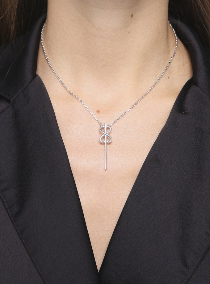 Колье THE KEY из серебра AA_3L001-0016, фото 1 - в интеренет магазине KAPSULA