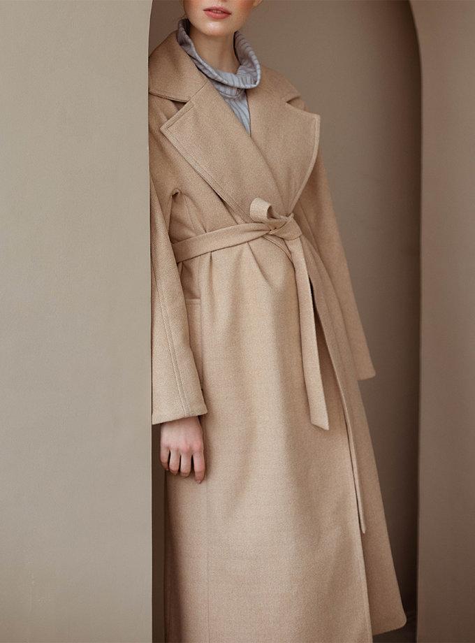 Зимнее пальто из шерсти на запах AY_3088, фото 1 - в интеренет магазине KAPSULA