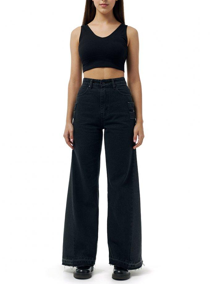 Широкие джинсы из хлопка WNDM_jk1, фото 1 - в интеренет магазине KAPSULA