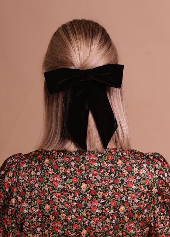 Бархатый бант для волос NT_NTCK2BVE, фото 1 - в интернет магазине KAPSULA