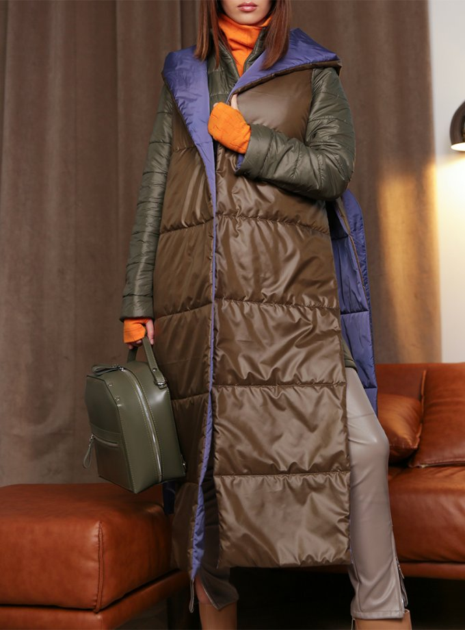 Куртка и жилет из стеганной плащевки TBC_20087pl_2223, фото 1 - в интернет магазине KAPSULA