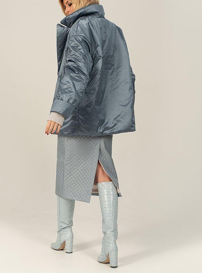 Короткий пуховик Gray-blue WNDR_win_21_djbl_02, фото 1 - в интеренет магазине KAPSULA