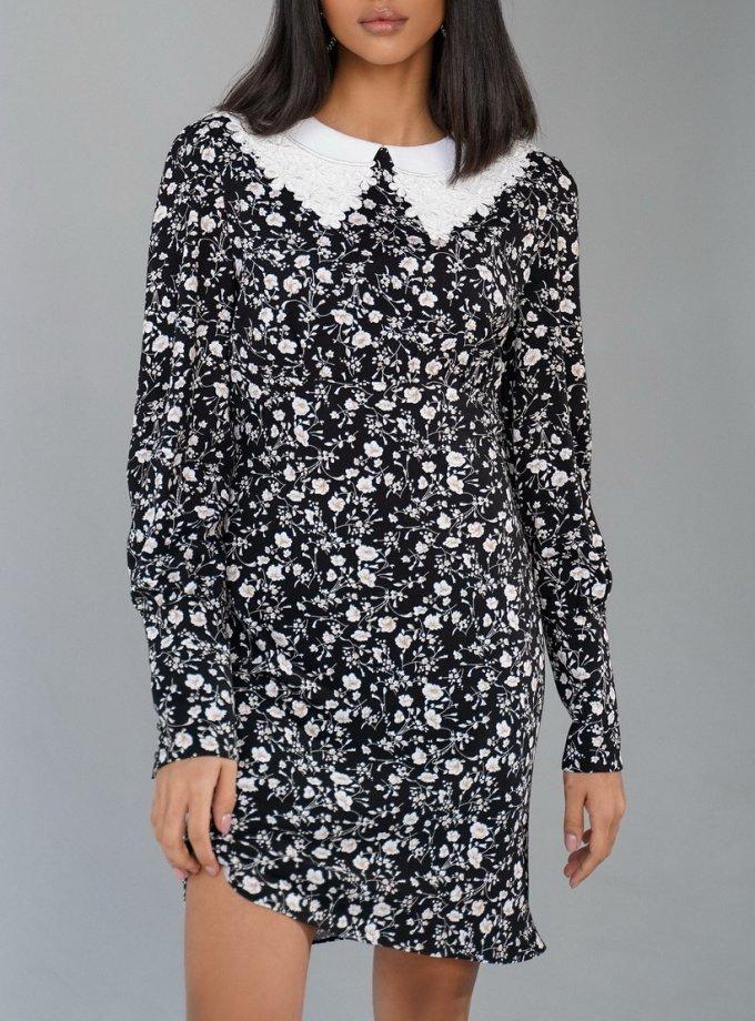 Платье Zoya со съемным воротником MC_MY3521, фото 1 - в интеренет магазине KAPSULA