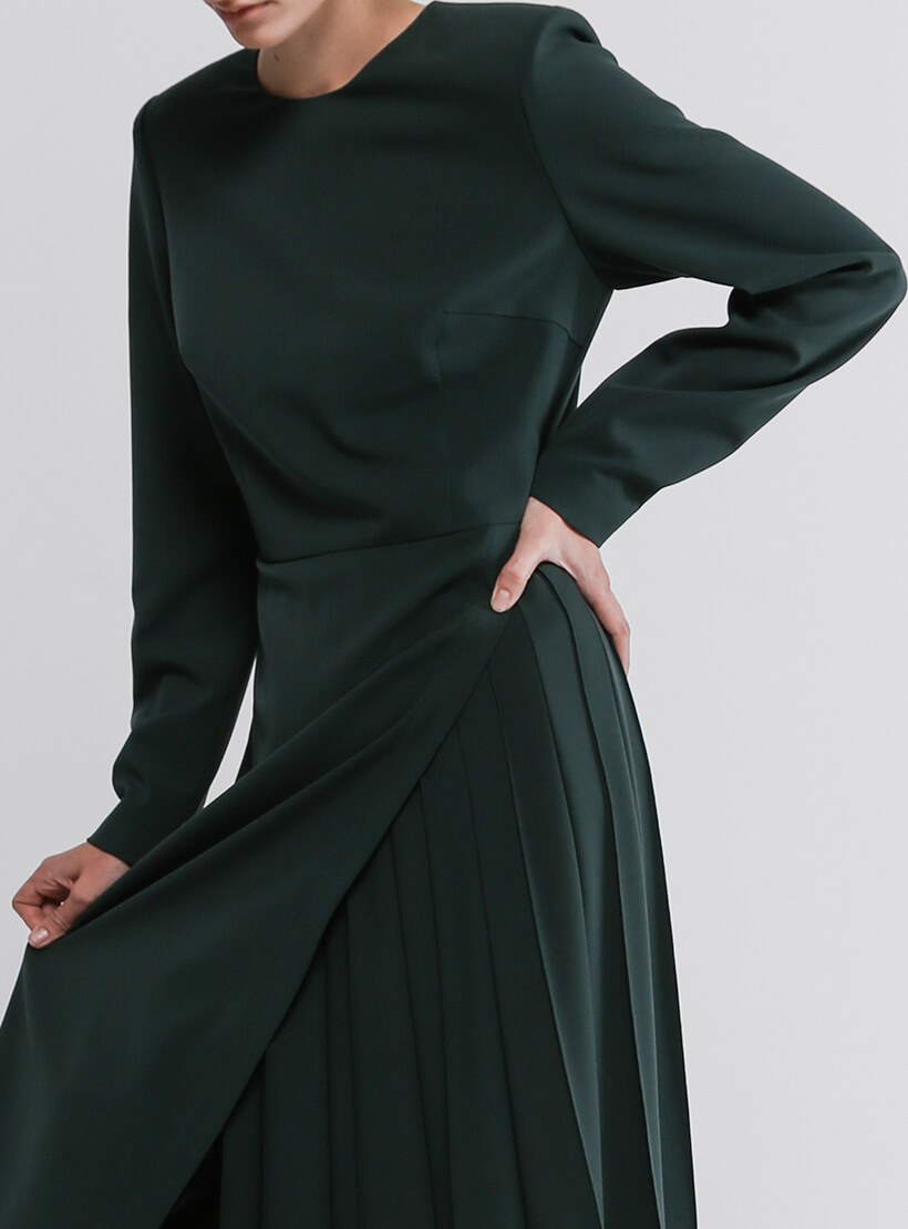 Платье со вставкой плиссе SHKO_20035002, фото 1 - в интернет магазине KAPSULA