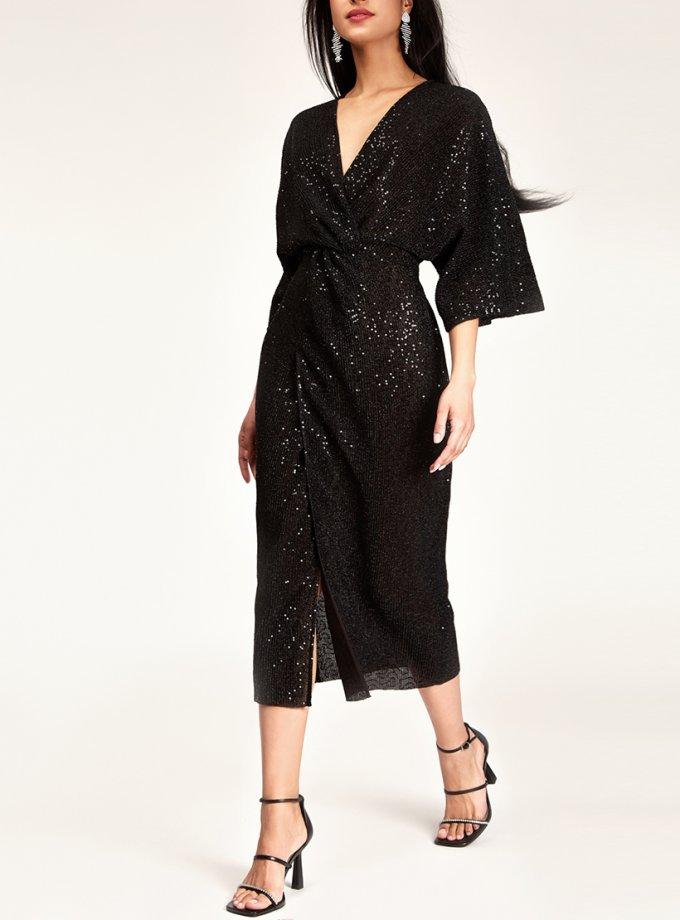 Платье в пайетки с узлом CVR_NY21BLLONG, фото 1 - в интеренет магазине KAPSULA