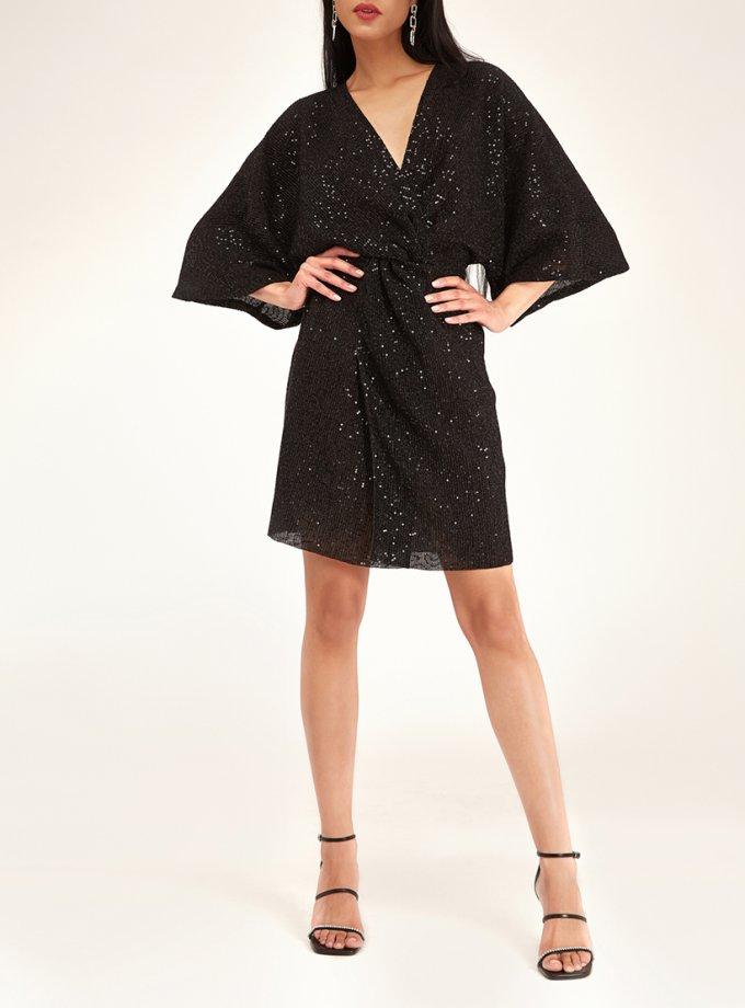 Платье мини в пайетки с узлом CVR_NY21BLSHT, фото 1 - в интеренет магазине KAPSULA
