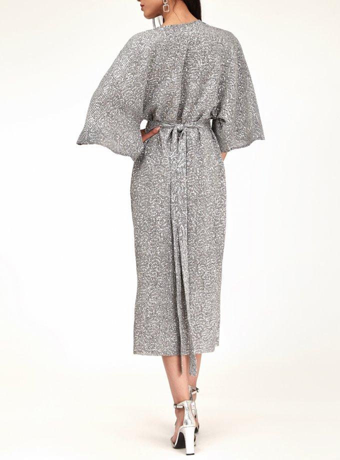 Платье в пайетки с узлом CVR_NY21SiLONG, фото 1 - в интеренет магазине KAPSULA