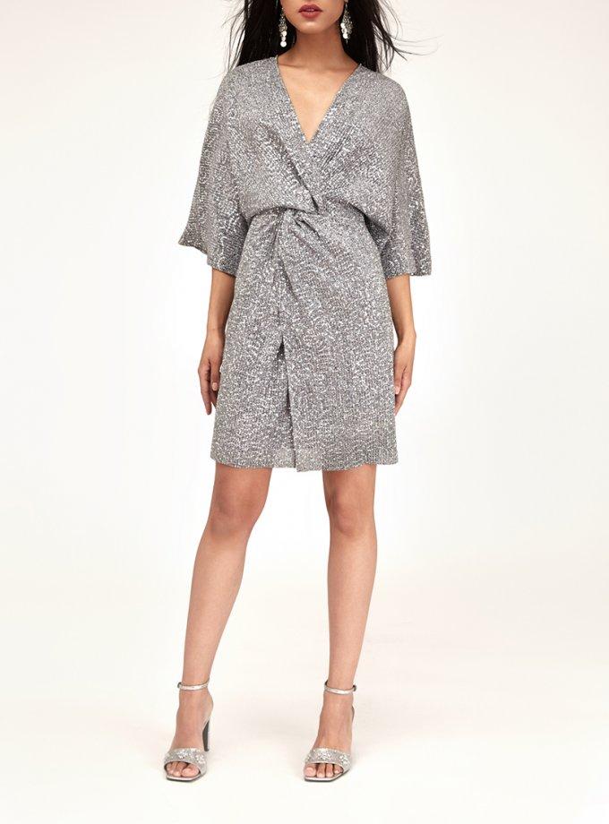 Платье мини в пайетки с узлом CVR_NY21SiSHT, фото 1 - в интернет магазине KAPSULA