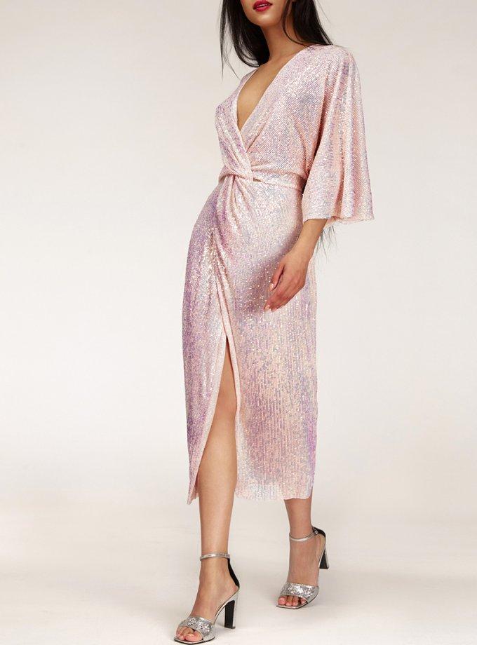 Перламутровое платье в пайетки CVR_NY21PINK, фото 1 - в интеренет магазине KAPSULA