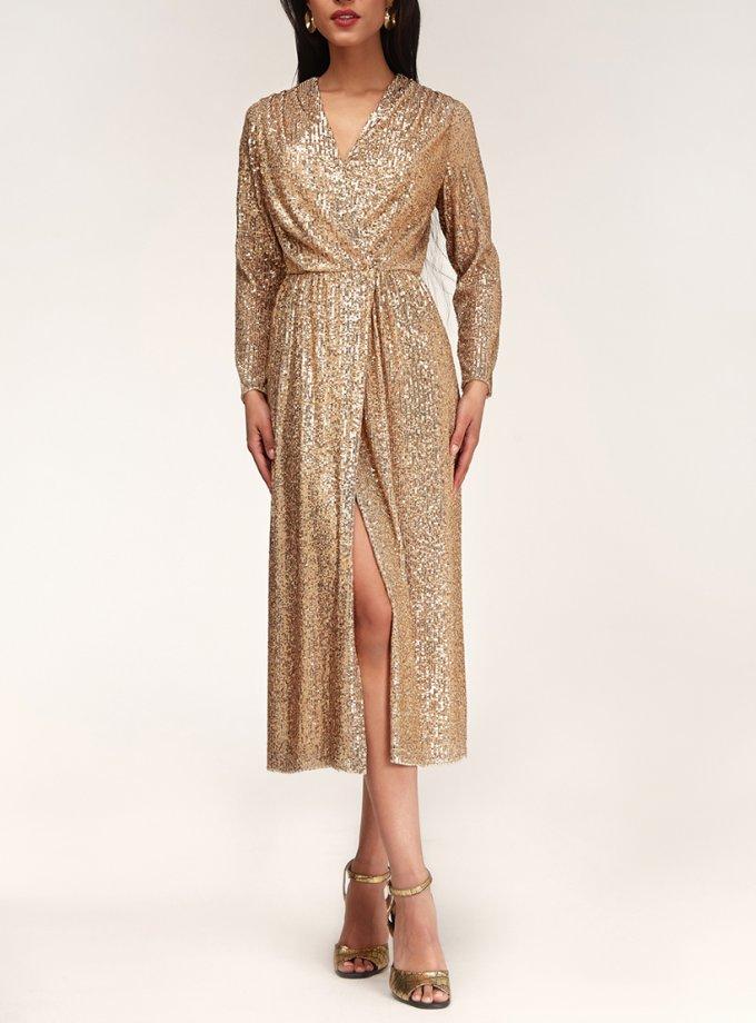 Платье в пайетки на кнопках CVR_NY21GOLD, фото 1 - в интеренет магазине KAPSULA