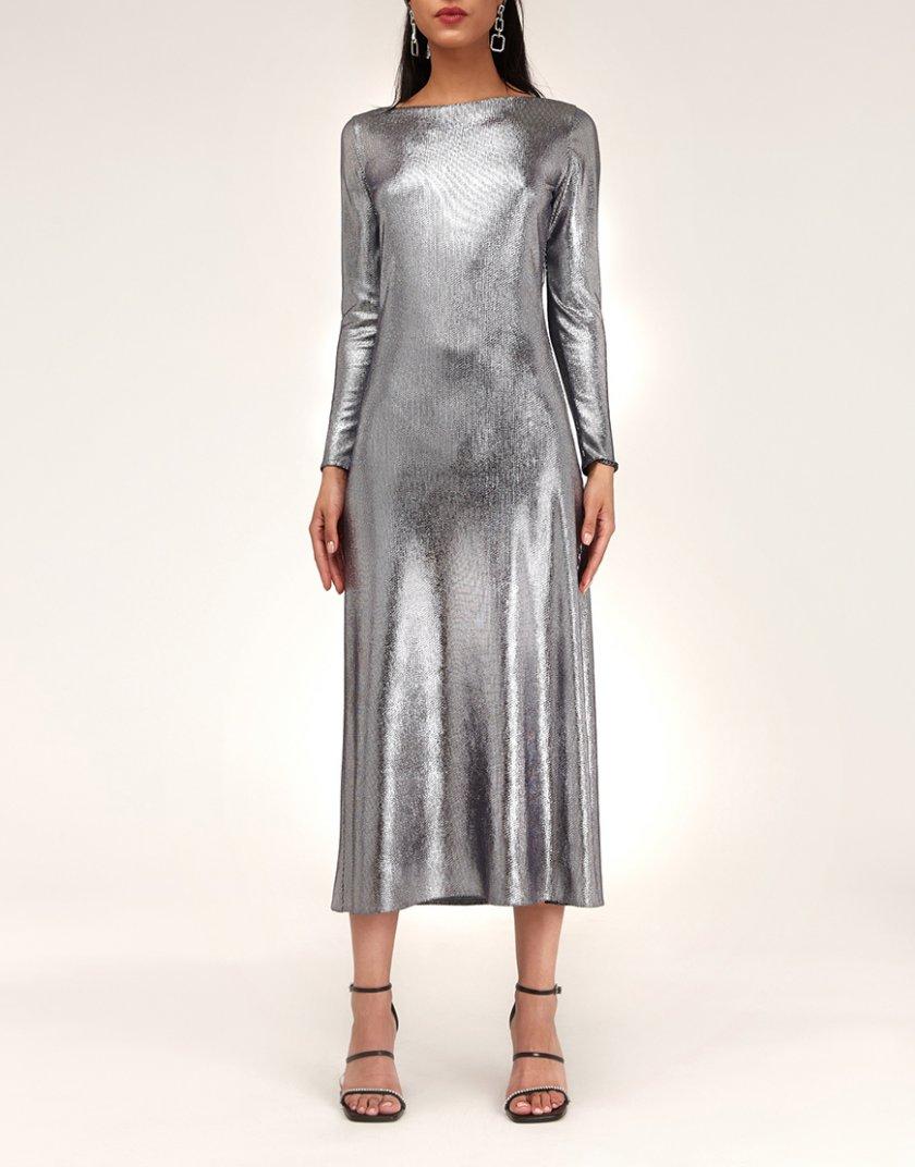 Платье с металлическим блеском CVR_NY21TERM, фото 1 - в интернет магазине KAPSULA