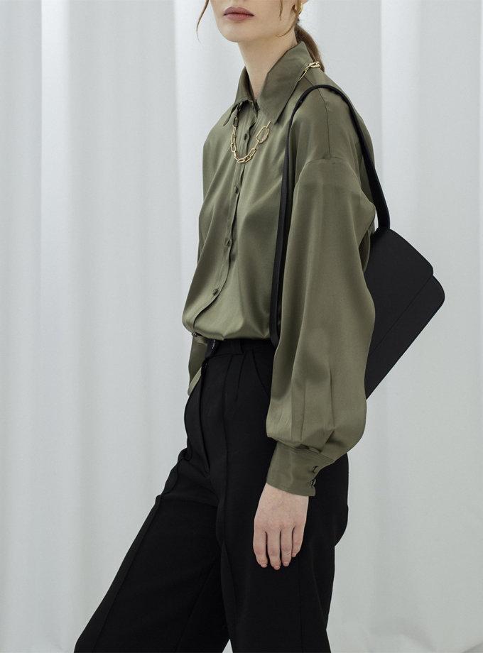 Шелковая рубашка с разрезами IR_FW20_SG_031, фото 1 - в интернет магазине KAPSULA