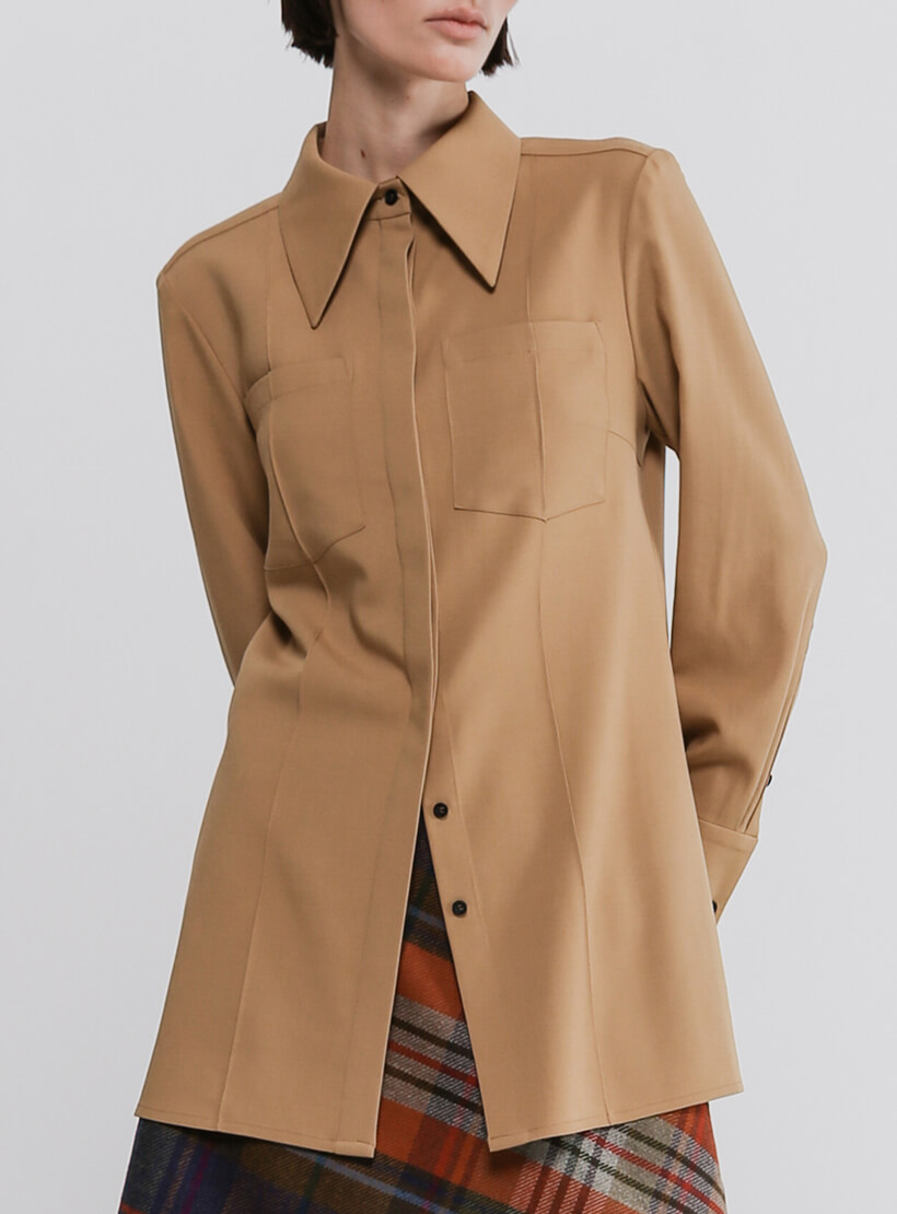 Блуза из шерсти с карманами SHKO_20019004, фото 1 - в интернет магазине KAPSULA
