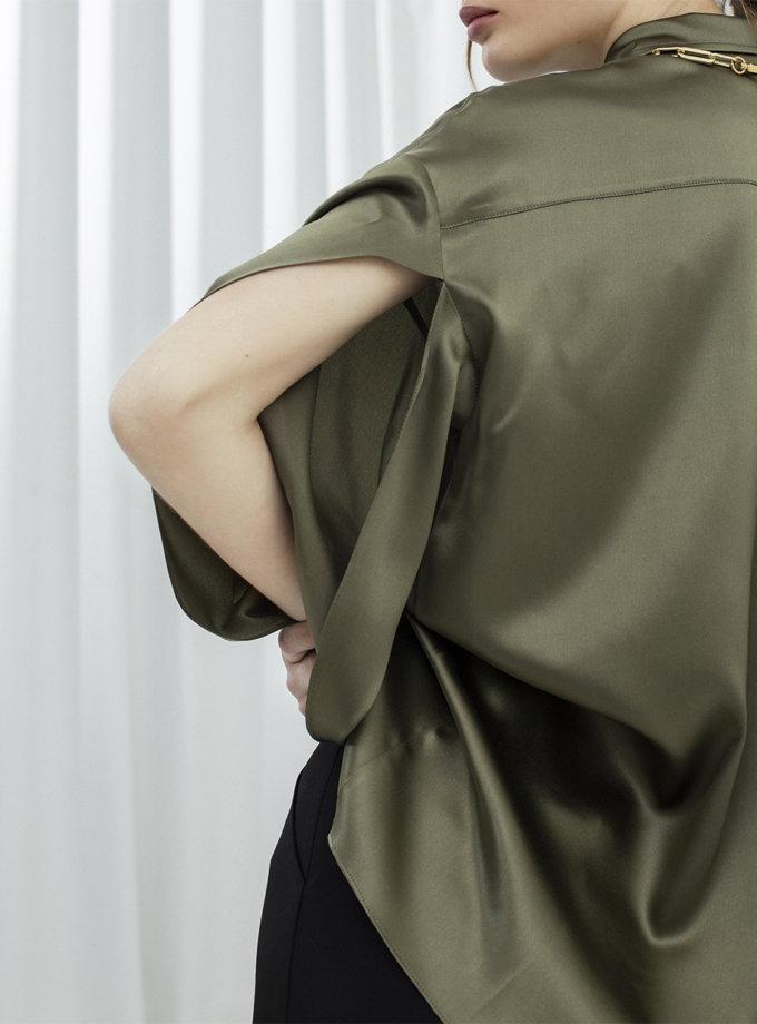 Шовкова сорочка з розрізами IR_FW20_SG_031, фото 1 - в интернет магазине KAPSULA