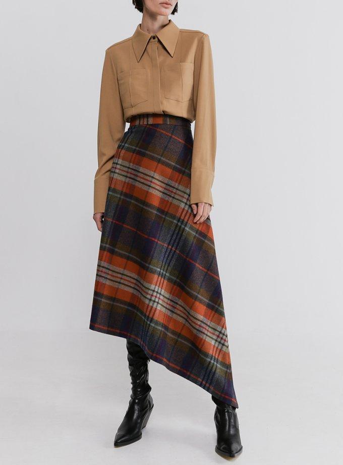 Асимметричная юбка из шерсти SHKO_20033001, фото 1 - в интеренет магазине KAPSULA