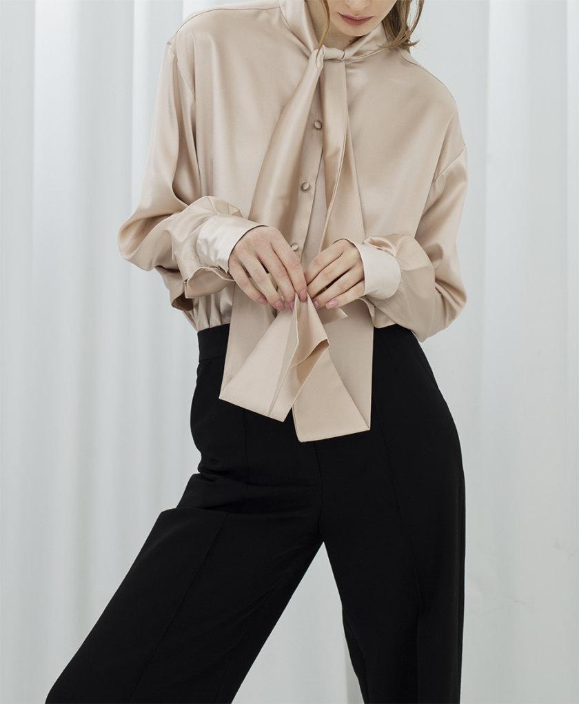 Шелковая блуза с лентами IR_FW20_SM_032, фото 1 - в интернет магазине KAPSULA