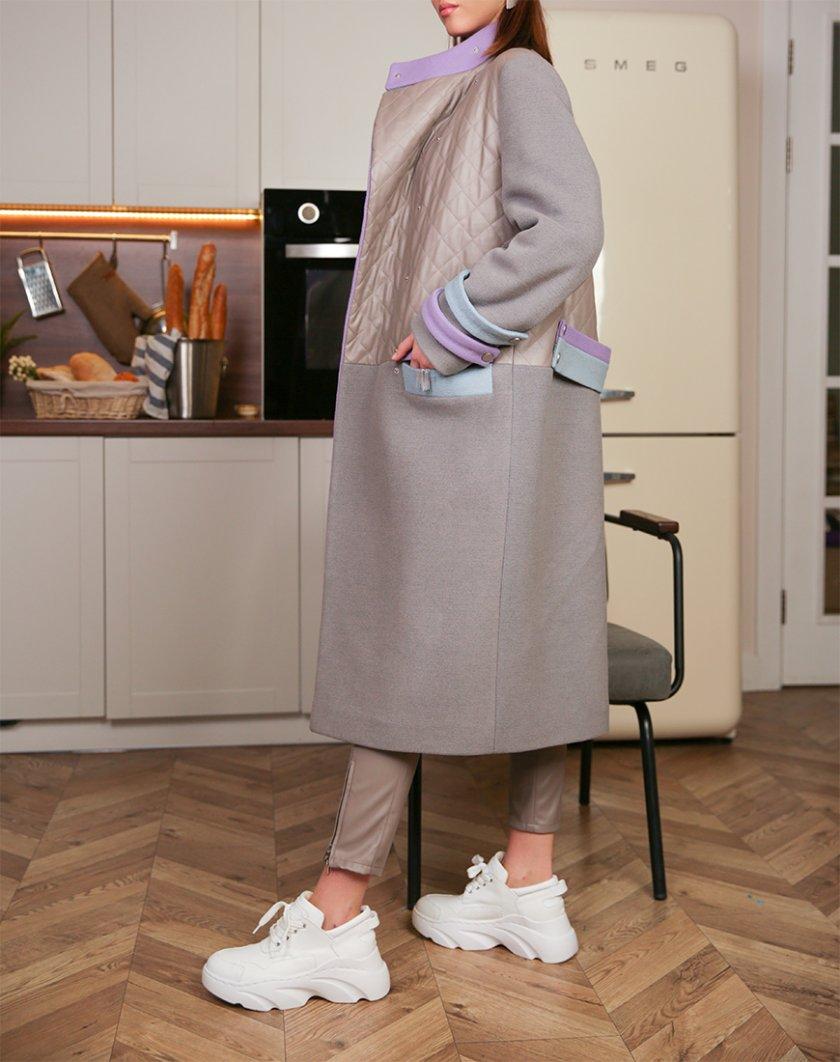 Утеплённое пальто из шерсти TBC_20075w_1919z, фото 1 - в интернет магазине KAPSULA