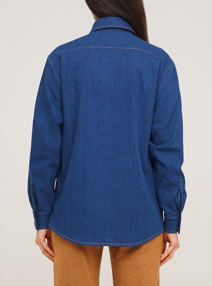 Джинсовая рубашка с накладными карманами AY_3071, фото 1 - в интернет магазине KAPSULA