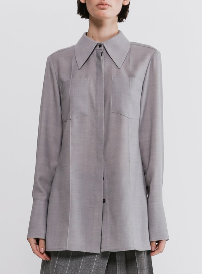 Блуза из шерсти с карманами SHKO_20019003, фото 1 - в интернет магазине KAPSULA