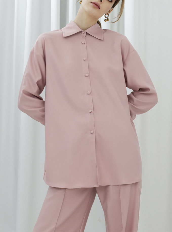 Рубашка с широкими манжетами IR_FW20_SV_034, фото 1 - в интернет магазине KAPSULA