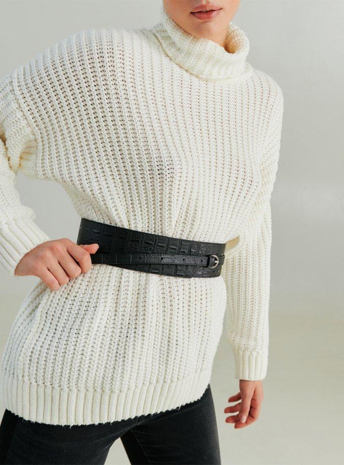 Ремень из фактурной кожи KLNA_belt-4, фото 1 - в интеренет магазине KAPSULA