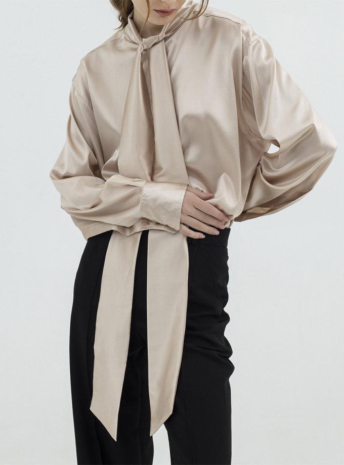 Шовкова блуза з стрічками IR_FW20_SM_032, фото 1 - в интернет магазине KAPSULA