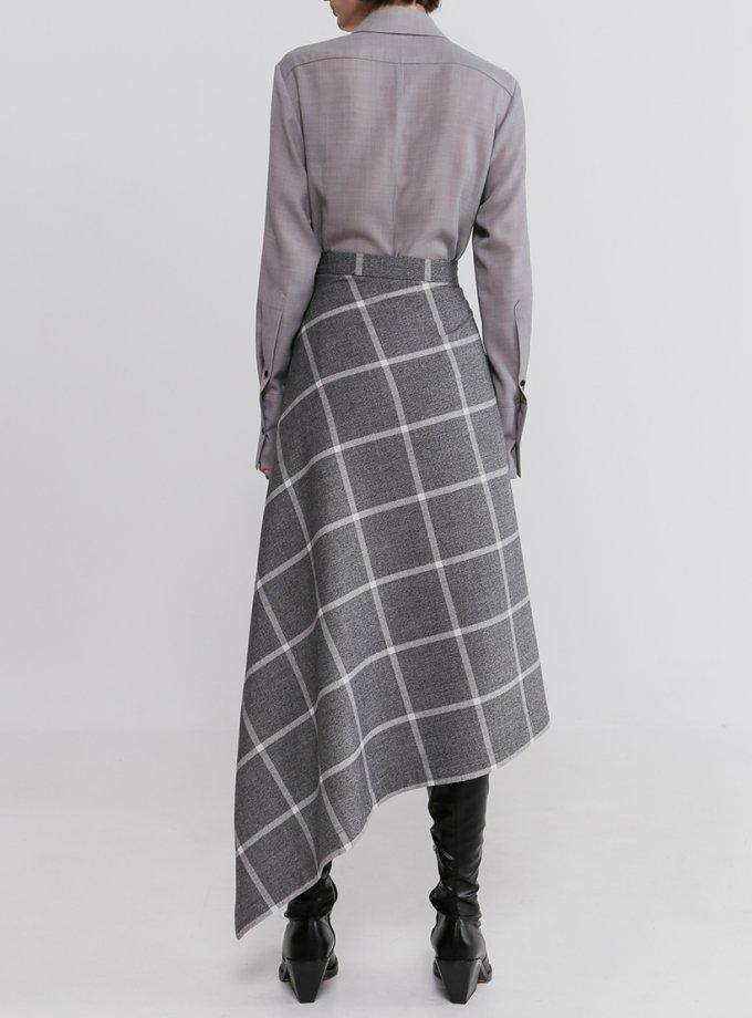 Асимметричная юбка в клетку SHKO_20022005, фото 1 - в интернет магазине KAPSULA