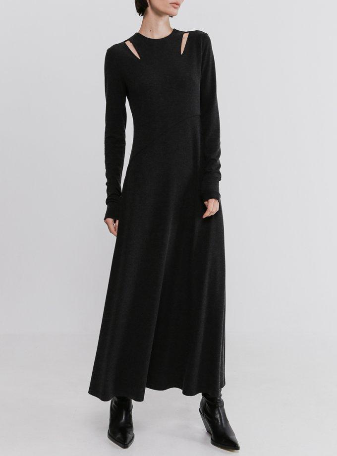Платье макси с вырезами SHKO_20037001, фото 1 - в интеренет магазине KAPSULA