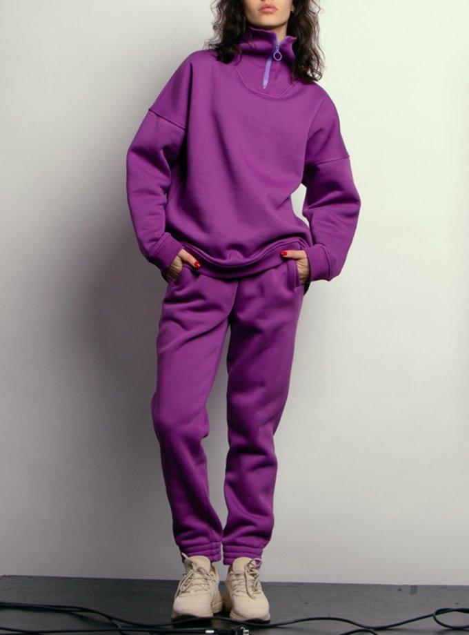 Утепленные брюки из хлопка NM_440б, фото 1 - в интернет магазине KAPSULA