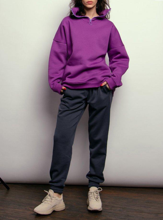 Утепленные брюки из хлопка NM_441б, фото 1 - в интеренет магазине KAPSULA