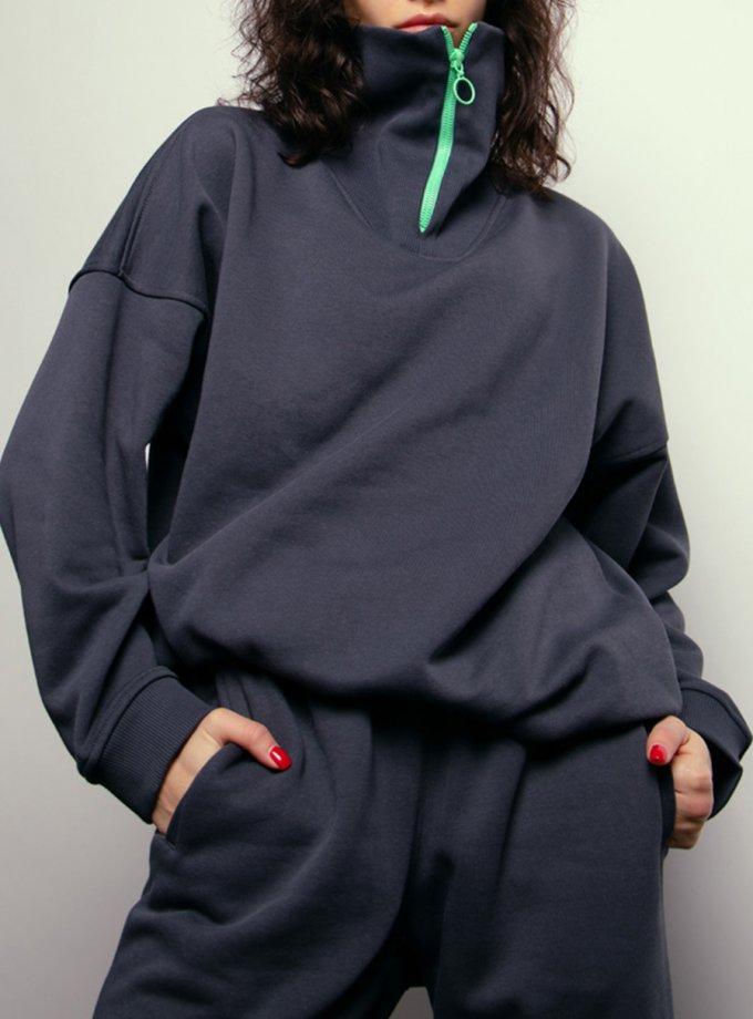 Утепленный свитшот из хлопка NM_441, фото 1 - в интернет магазине KAPSULA