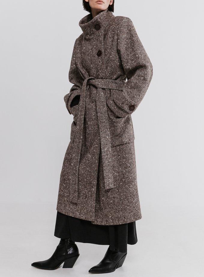 Пальто из шерсти с воротником стойка SHKO_20031001, фото 1 - в интеренет магазине KAPSULA