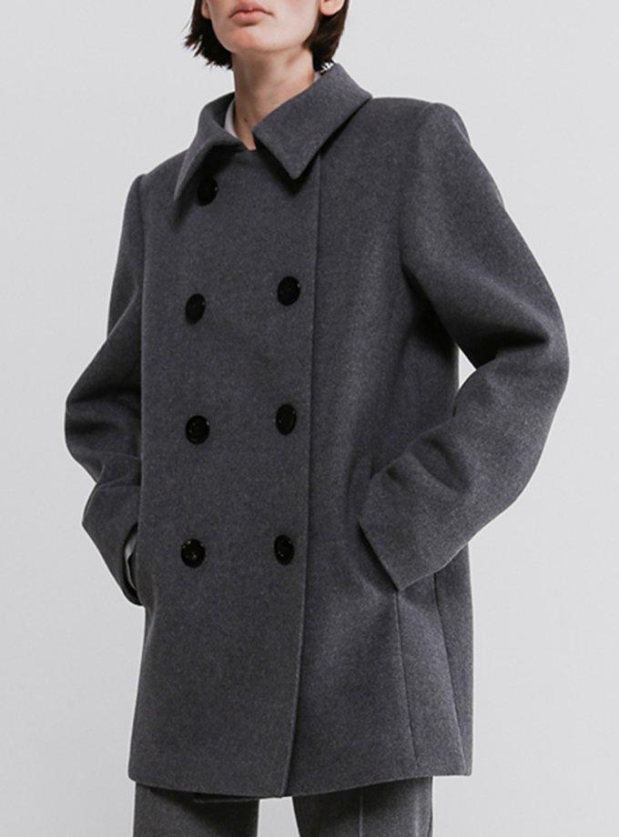 Двубортное пальто из шерсти SHKO_20036001, фото 1 - в интеренет магазине KAPSULA