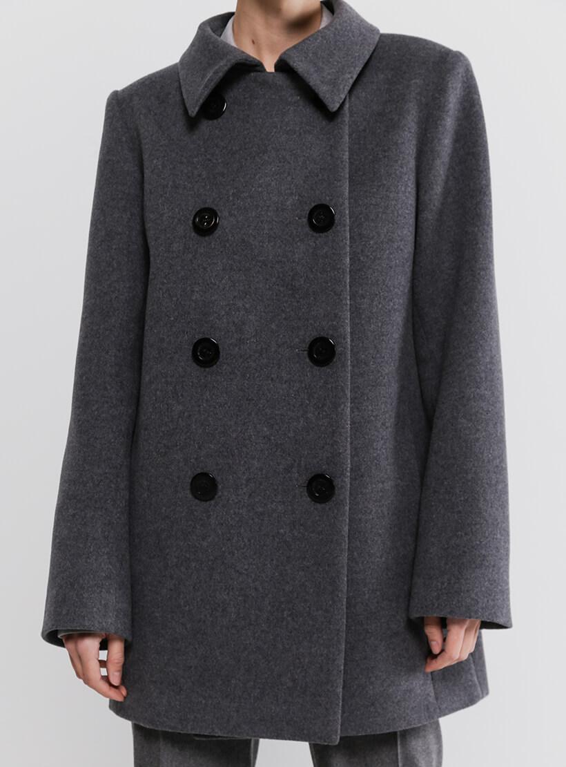 Двубортное пальто из шерсти SHKO_20036001, фото 1 - в интернет магазине KAPSULA