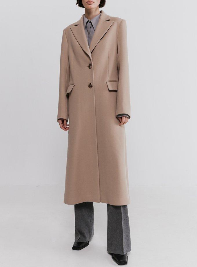 Пальто прямого кроя из шерсти SHKO_20032001, фото 1 - в интеренет магазине KAPSULA