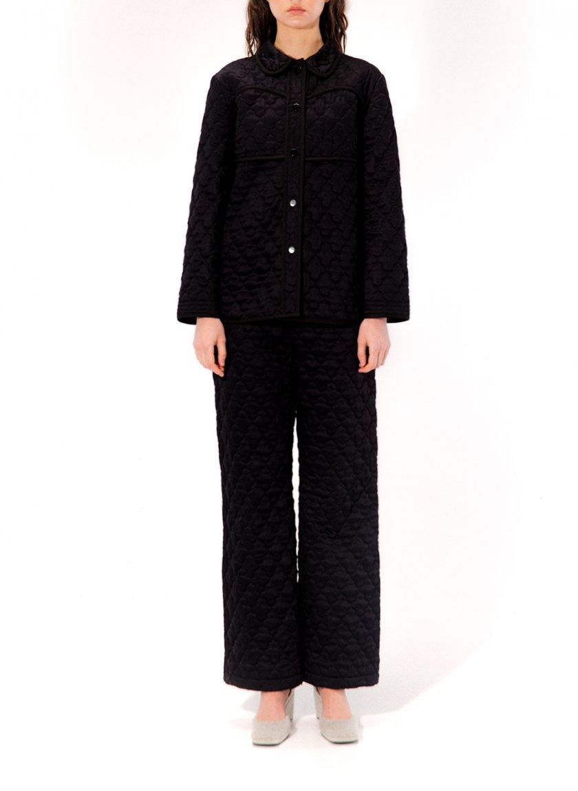 Стеганная пижама Ann MRCH_CHR_01_black, фото 1 - в интеренет магазине KAPSULA
