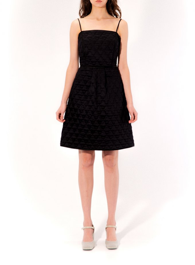 Стеганное платье Rebecca MRCH_CHR_03_black, фото 1 - в интеренет магазине KAPSULA