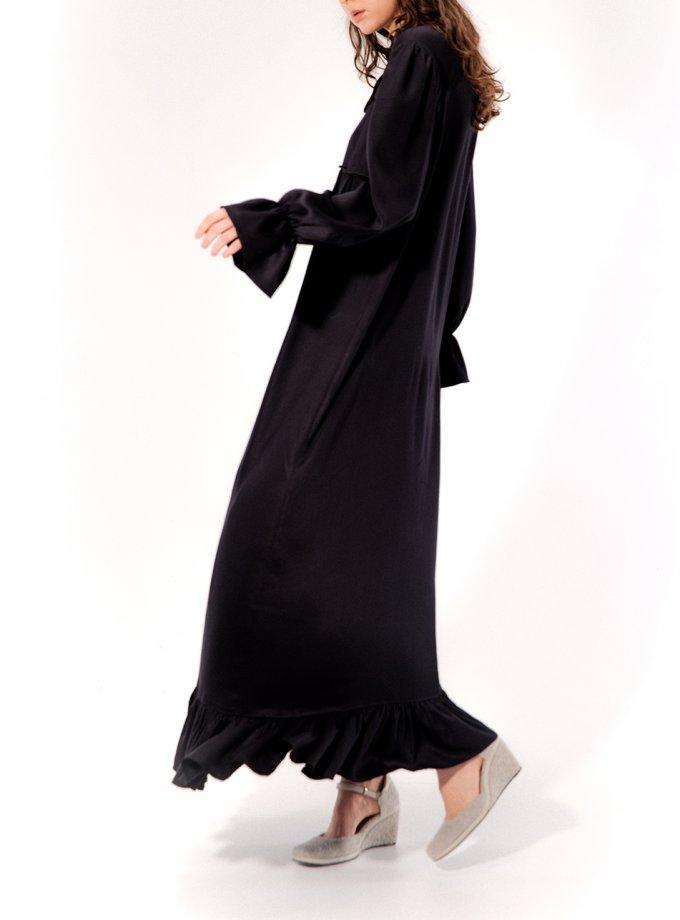 Платье макси с рюшами MRCH_CHR_04_black, фото 1 - в интеренет магазине KAPSULA